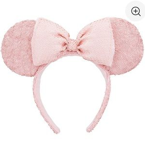 Minnie Mouse sequined ear headband pastel pink